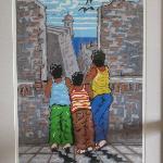 The three sons of Samuel Lind at El Morro