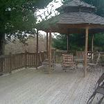 Gazebo and landing to relax