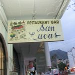 Restaurant San Lucas Sign