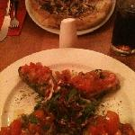 garlic & rosemary bread, bruschetta
