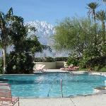 Miracle Springs Hotel and Spa Mountain view from the pool