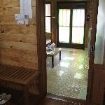 bedroom thru sitting room to entry
