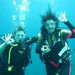 Shelley and I Diving Utila!