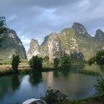 View from Balcony, Yangshuo Mountain Retreat, Yangshuo China