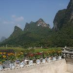 View from Luna Rooftop Italiand Restaurant at Village Inn, Yangshuo China
