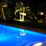 Pen Villa pool by night