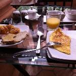 Frühstück im Le Pavillon ...