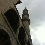 One of the 6 minarets of the Blue Mosque