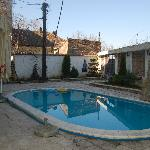 Inside yard with swimming pool