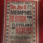 poster featuring Memphis Red Sox of the Negro Baseball League