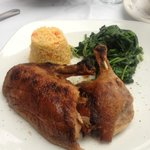Crispy Duck - DELICIOUS! (With basmati rice and spinach)