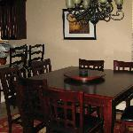 "The dining room area and kitchen at ""Sun Drenched"""