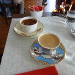 Café com creme brullé de doce de leite