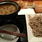 this was the pork japanese curry dipping soba that my man had