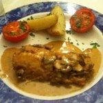 cod with mushroom sauce