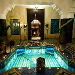 Riad El Mansour at night