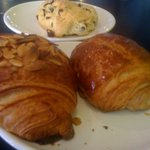Scone, Chocolate and Almond Croissant
