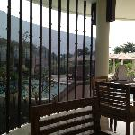 resturant view off pool