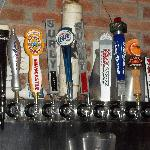 A large selection of tap beer