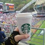 """South stand, the score board and my """"coffee"""""""