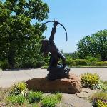 インディアンの彫像