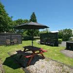 BBQ/garden area