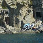 """Der """"Hafen"""" von Pollara auf Salina"""