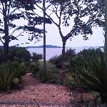 The view of Lake Victoria from the entrance of the Lodge