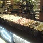 one side of the salad bar