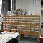 35万冊以上の蔵書を整理したカード棚
