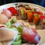 Bento Box - Sashimi and Sushi rolls