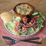 Casserole with Salad