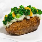 Brocolli and Cheddar Potato