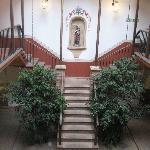 Escaleras para subir a las habitaciones