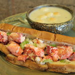 Lobster Roll and New England Clam Chowder
