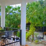 Terrace overlooking the beautiful Santo Nino grounds.