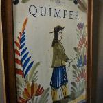 Lovely art print from Quimper, France in the hallway.