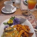 Heavenly Frittata and Sweet Potato chips