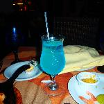 Blue Margarita from the Tex Mex a la carte