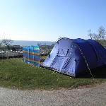 ......our pitch, with electric hook up and water tap, all pitches have great views.