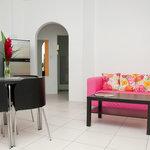Open Plan relaxing  lounge Kitchen