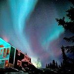 aurora over Blue Raven B&B