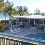 View of pool and Bay Bistro from our porch