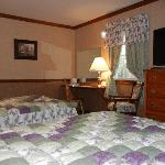 queen and double bed room with private bath overlooking Amish farm