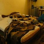 Our room (not always this messy, but the only picture)