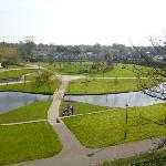 Town park viewed from the balcony