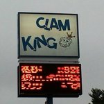 Clam King Sign