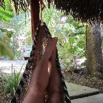 Hammocks in cabana