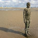 Iron man closest to the sea when the tide was out... definitely undergoing a sea change!
