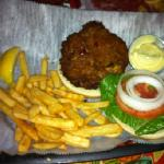 crab cake burger! excellent!